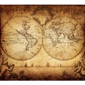 1733 Yılında Dünyanın Durumu 3 Boyutlu Duvar Kağıdı