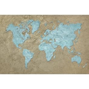 Mavi Dünya 3 Boyutlu Duvar Kağıdı