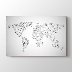Global Network Dünya Haritası Tablosu | Dünya Haritası Tablosu