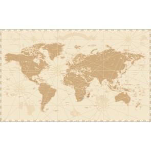 Nostaljik Dünya Haritası 3 Boyutlu Duvar Kağıdı