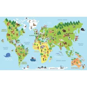 Kültür Çeşitlerine Göre Dünya 3 Boyutlu Duvar Kağıdı