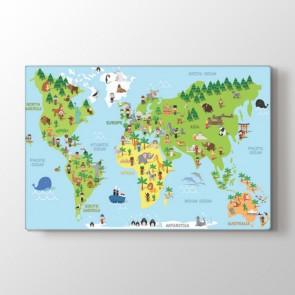 Kültür Çeşitlerine Göre Dünya Tablosu | Harita Tablo