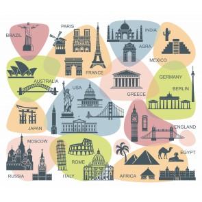 Dünya Turizm Klasikleri 3 Boyutlu Duvar Kağıdı