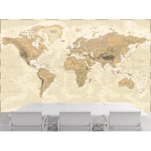 Vintage Fiziki Dünya Haritası