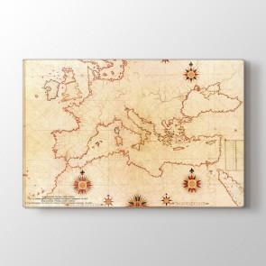 Piri Reis Haritası 16. Yüzyıl Avrupa Tablosu | Dünya Haritası Tabloları