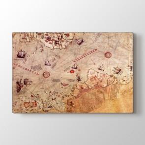 Piri Reis Haritası Tablosu | Harita Tablo
