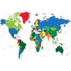 Ofis İçin Dünya Haritası - Harita Duvar Kağıdı Modeli