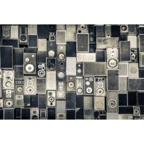 Hoparlör Cümbüşü Müzik Temalı Duvar Kağıdı Modeli