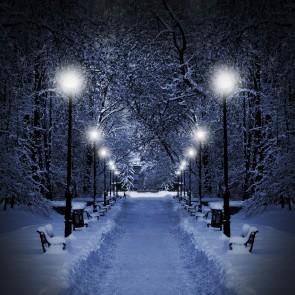 Karlar Düşer 3 Boyutlu Kış Manzaralı Duvar Kağıdı Önizleme