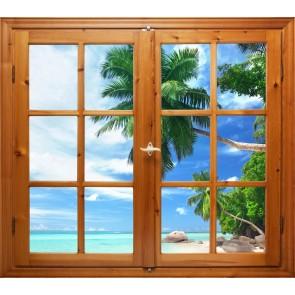 Pencereden Deniz Manzaralı Duvar Kağıdı Önizleme