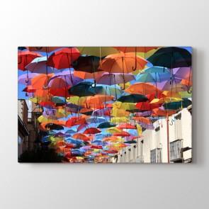 Şemsiye Yağmuru - Modern Duvar Tablosu