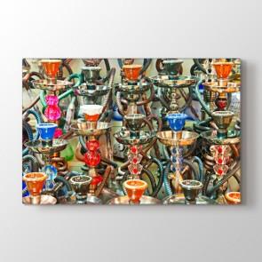 Nargileler - Modern Dekoratif Duvar Tablosu