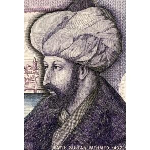 Fatih Sultan Mehmet Portresi - Resimli İthal Duvar Kağıtları