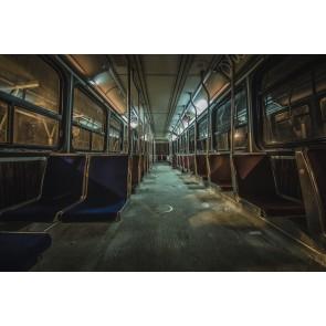 Metro Vagonu 3 Boyutlu Duvar Kağıdı