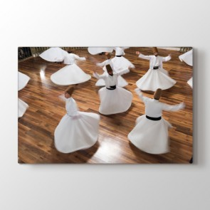 Semazenler Gösterisi Tablosu | Salon Duvar Tabloları