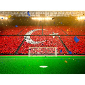 Tek Yürek Türkiye 3 Boyutlu Resimli Duvar Kağıdı