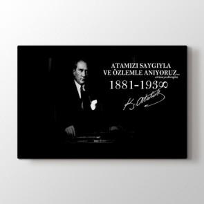 Atatürk'ü anıyoruz Tablosu | Ev Dekorasyon Tablo