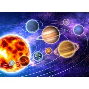 Renkli Galaksi 3 Boyutlu Duvar Kağıdı