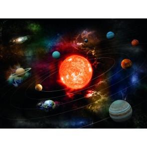 Fantastik Güneş Sistemi 3 Boyutlu Duvar Kağıdı