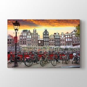 Amsterdam Bisikletleri Tablosu Kanvas Tablo Modeli