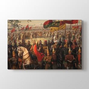 Fatih Sultan Mehmet Seferde Tablosu - Kanvas Tablo Baskı