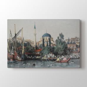 İstanbul Kayıklari Tablosu - Kanvas Tablo Modelleri