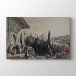 Osmanlı Çeşme Görüntüsü Tablosu - Ucuz Kanvas Tablo