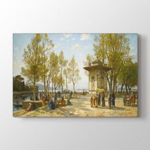 Osmanlı Dönemi Çeşmeli Park Tablosu - Yazılı Tablolar