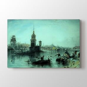 Osmanlı Dönemi Kız Kulesi Tablosu - Büyük Boy Kanvas Tablo