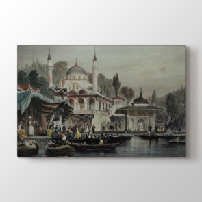 Osmanlı Kayık Sefası Tablosu - Kanvas Tablo Online Satış