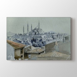 Siyah Beyaz Osmanlı Tablosu Tablosu - Indirimli Tablolar
