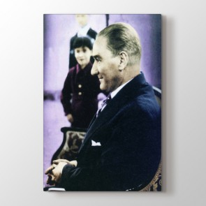 Atatürk Öğrencilerle Tablosu | Atatürk Tabloları - duvargiydir.com