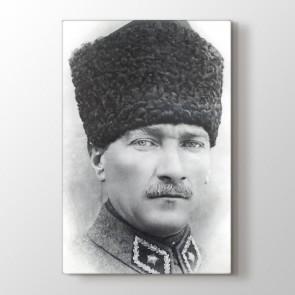 Siyah Beyaz Atatürk Tablosu | Atatürk Tabloları - duvargiydir.com
