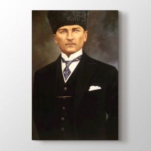 Mustafa Kemal Duruşu Tablosu | Atatürk Kanvas Tabloları - duvargiydir.com
