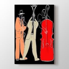 Üçlü Blues Grubu Tablosu   Müzik Tabloları - duvargiydir.com