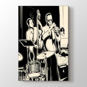 Jazz Dönemi Tablosu   Müzik ve Jazz Tabloları - duvargiydir.com