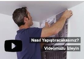 Yapışkanlı Duvar Kağıdı Uygulama Videomuzu İzleyin