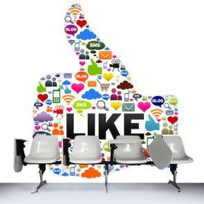 Sosyal Medya - Duvar Dekoru