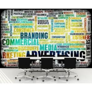 Reklamcılık 3 Boyutlu Resimli Duvar Kağıdı
