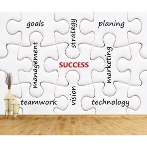 Başarının Anahtarı 3 Boyutlu Resimli Duvar Kağıdı