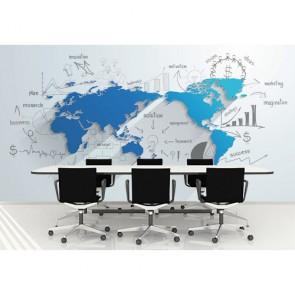 İş Yönetimi - Ofis 3D Duvar Kağıdı