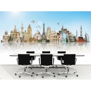 Dünyanın Değerleri - Ofis 3D Duvar Kağıdı Modeli