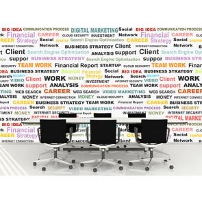 Renkli Ofis Terimleri - Ofis Duvar Kağıdı Uygulama