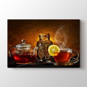 Çay Saati - Mutfak Resimli Tablo Modeli