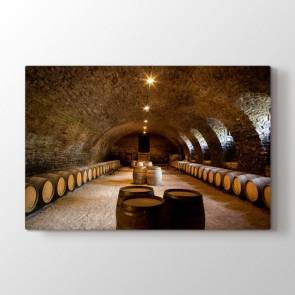 Şarap Mahzeni - Modern Dekoratif Duvar Tablosu