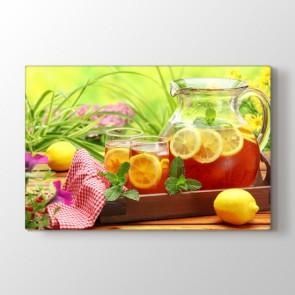 Limonlu Çay - Mutfak Kanvas Tablo Modeli