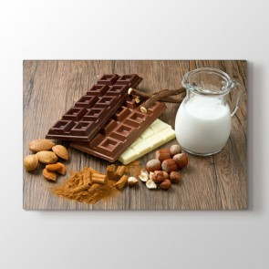 Sütlü Çikolata - Mutfak Duvar Tablosu