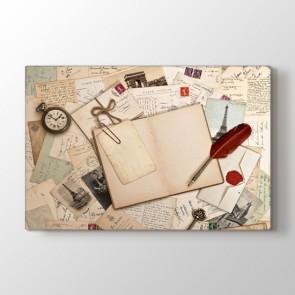 Unutulmayan Mektuplar - Mutfak Kanvas Tablosu