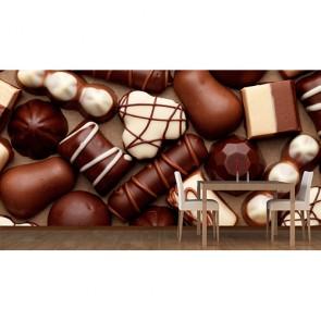 Bayram Çikolatası - Manzaralı Yapışkan Duvar Kağıdı