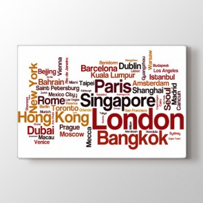 Dünyayı Geziyorum - Ofis Kanvas Tablosu